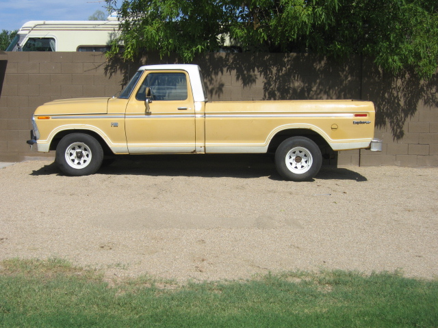 1974 Ford F100 with a Dual Fuel Propane Conversion Kit .